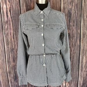 COLUMBIA Grey Checked Cinched Waist Flannel Tunic